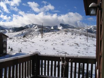 Crestview condo rental - Winter View off Balcony.
