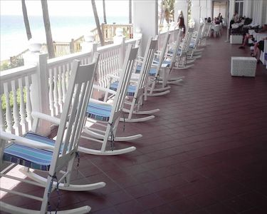 Rocking chairs on veranda