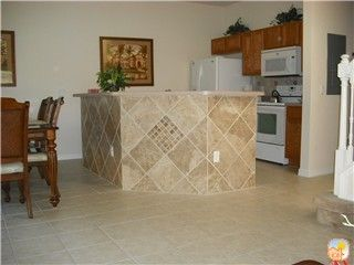 Our Newly Tiled Breakfast Bar With Kitchen