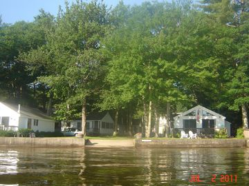 View of cottage association from lake.