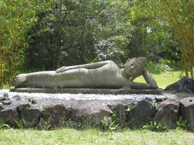 Near Kalapana, could this be Quan Yin relaxing in the garden?
