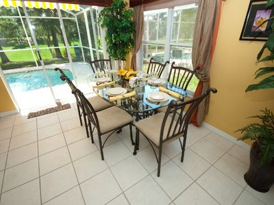 Haines City villa rental - Dining area, seats 6