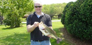 Charlottesville farmhouse photo - State Citation Bass, caught in one of our farm ponds.