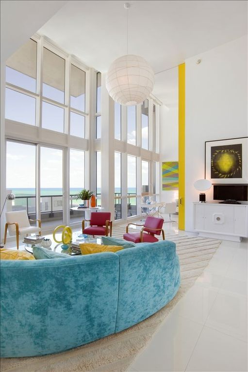 Miami Beach apartment rental - Living Room