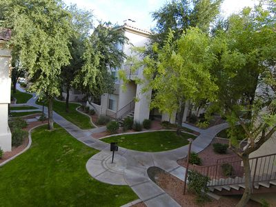 View of the courtyard from the patio