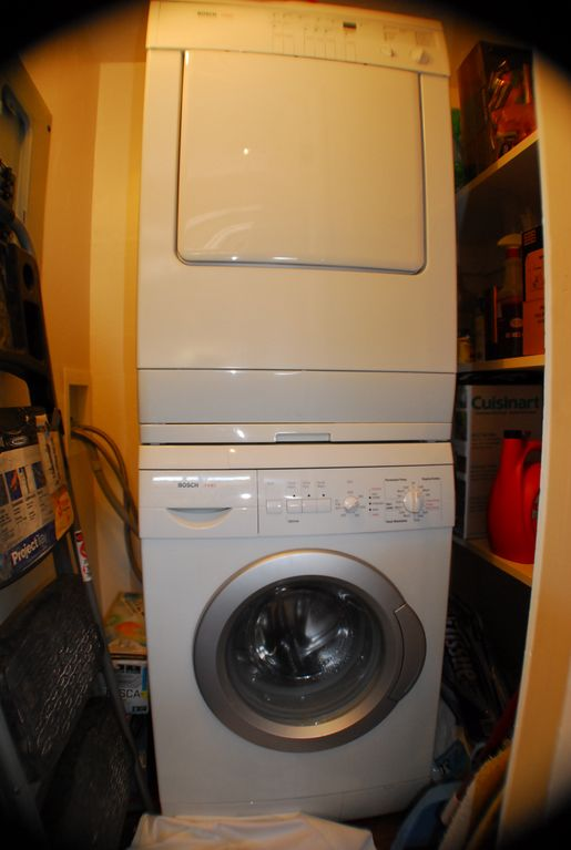 Laundry in closet in Kitchen