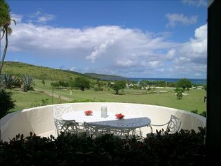 St. Croix villa photo - At Coral Reef enjoy the golf course, the ocean & Buck Island from your patio.
