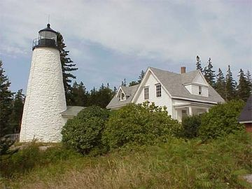 Dice Head Lighthouse is a 5 minute walk