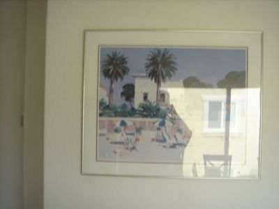 Cool beach artwork all orver condo