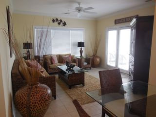 Ocean Isle Beach condo photo - Sitting area with Flat Screen TV and DVD Player