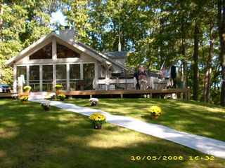 Angola house photo - Large Deck Perfect for Entertaining (and Weddings), we did !!
