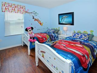 Crystal Cove villa photo - boys room with 2 twin beds and Wii game station