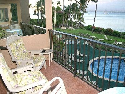 Maalaea condo rental - Your private lanai, 80' from the ocean!