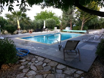 Private peaceful enclosed Villa with own Pool, Free Wifi and Extensive Gardens