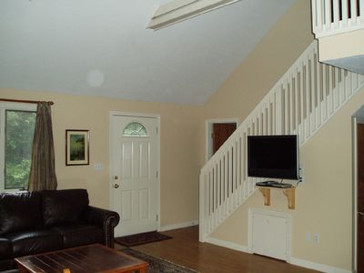Living Room and Stairs to Master Bedroom Suite