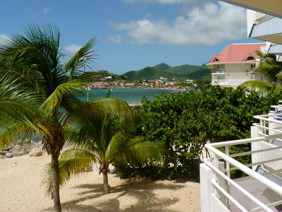 Marigot and its waterfront, bakeries, restos and shops within walking distance.