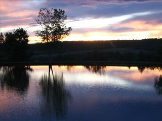 Durango cabin photo - Sunset over the pond.