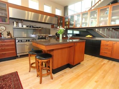 "Well equipped Gourmet kitchen w/2 36"" SubZero's,2 Dishwashers & Commercial Range"