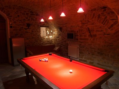 Dolcedo chateau / country house rental - The GamesRoom - Full Size Pool Table
