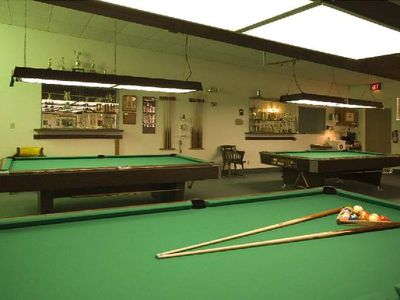 Pool Hall where they have tournaments