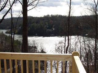Lake Lure cabin photo - View from new game room deck downstairs. 3 tiers of decks with gorgeous views!