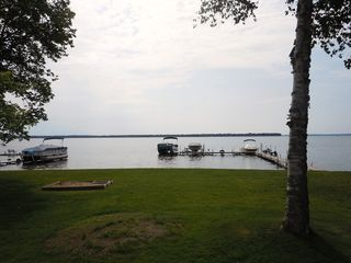 Houghton Lake cottage photo - Lake view from deck