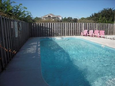 Pool with deck furniture