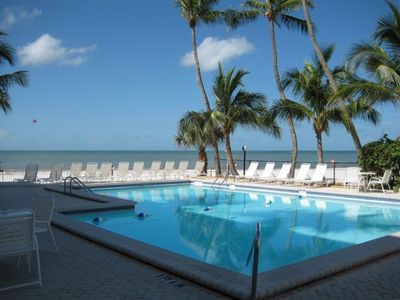 Beautiful beach side heated pool & hot tub spa