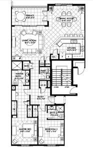 Floor plan of Suite 503