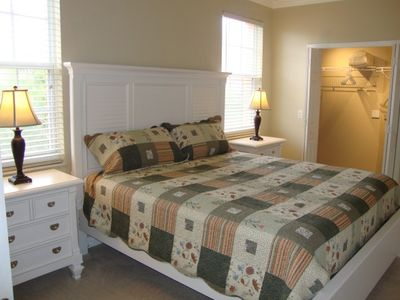 King Guest Bedroom with large closet