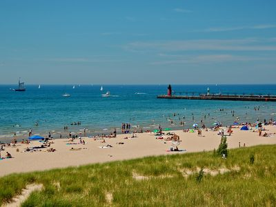 South Haven Beach 20 minutes from Gobles.