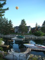 Tahoe Keys house photo - Balloon rising over dock.