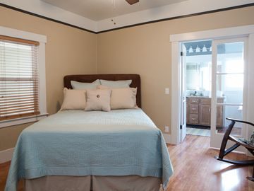 Charming master bedroom with an attached master bathroom!