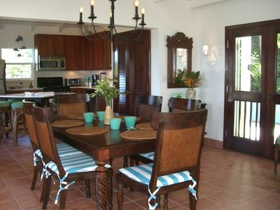 Coral Bay villa rental - Dining in style for up to eight