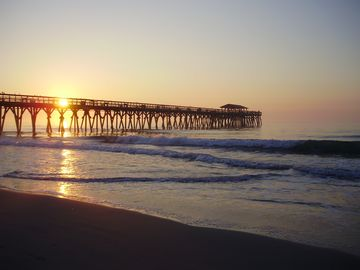Take a short walk to the State Park pier watching the sun rise.
