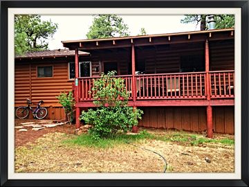 Munds Park cabin rental - Looking at front of cabin