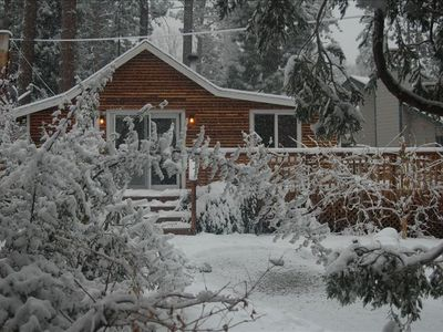 Snowing day at the Cabin !