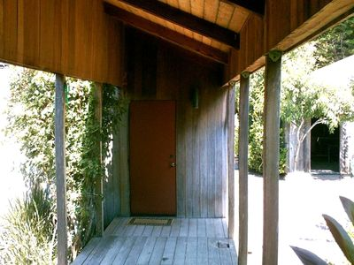 View of Covered Walkway for Access to Cottage