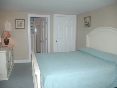 Falmouth house rental - Master bedroom - king size bed - private bath - TV
