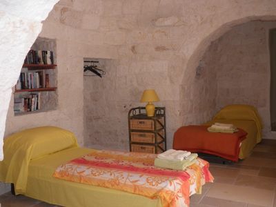 Trullo can sleep upto 4 in three alcoves