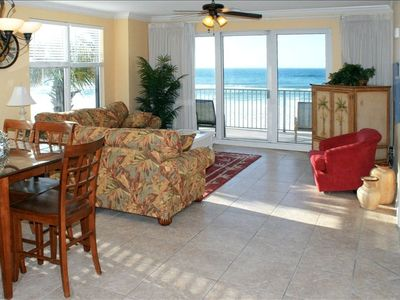 Beautiful beach view from the large open living room