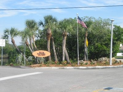 Entrance to Palm Island. A very lovely, family oriented neighborhood