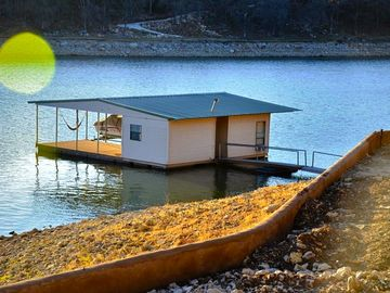 Enjoy a peaceful afternoon relaxing on our Floating Cabin