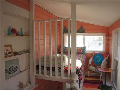 "extra twin over stairwell ""princess bed"""