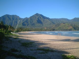 Hanalei house photo - Beach is two minute walk from house