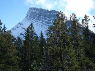 Banff apartment photo - Street view of Mount Rundle