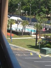 Looking left from the Balcony for a view of the Lazy River Complex! - Myrtle Beach Resort condo vacation rental photo