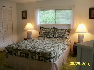 Master Bedroom Area - queen bed, this room has new carpet plus hugh closet.