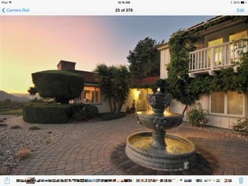 Carmel Valley bungalow rental - Bungalow above fountain on 2nd level. The deck in picture is yours to enjoy.
