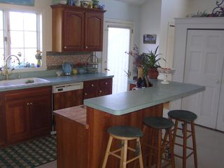 Truro house photo - kitchen, center island, gas stove, pantry
